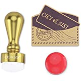 CICI&SISI Nail Stamper & Scraper Nail Art Polish Stamping Manicure & Pedicure Tool Set with an Extra Head (gold) by CICI&SISI