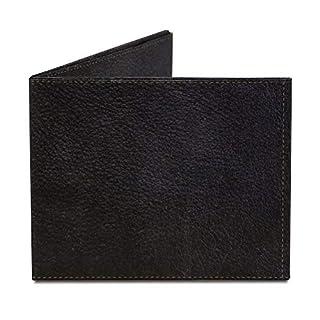 Black Leather Tyvek Mighty Wallet Brieftasche, Stealth Bi-Fold Wallet Brieftasche