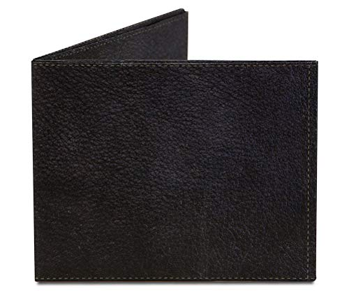 Black Leather Tyvek Mighty Wallet Brieftasche, Stealth Bi-Fold Wallet Brieftasche
