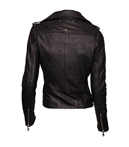 BE EDGY Damen Lederjacke Gipsy Bikerjacke Jacke Leder – Leder – schwarz black XS - 2