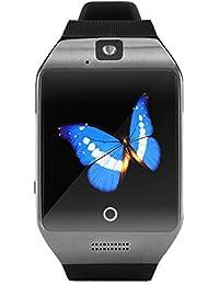 zolimx Q18S elegante reloj Bluetooth GSM cámara TF tarjeta reloj (negro)
