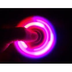 Christmas Concepts® - Rojo y azul exclusivo LED Fidget Spinner en azul - Reductor de estrés, alivio de estrés, autismo - Tiempo de giro 1-3 minutos