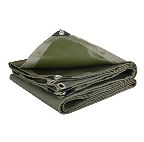Zotee occhiellato campeggio resistente uv, multiuso, resistente all'acqua occhiellato campeggio ideale per tende da tetto in tela cerata, barca,green_3x3m