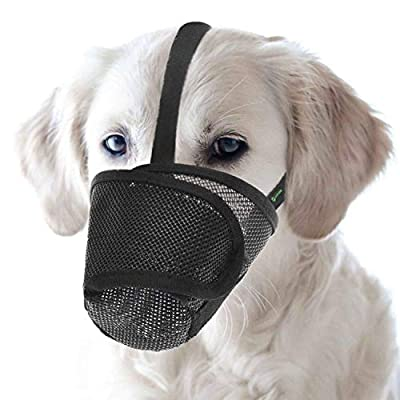 RockPet Nylon Mesh Dog Muzzle with Overhead Strap for Small,Medium and Large Dogs,Prevent from Biting, Barking and Chewing from Yiwu Tongyan Electronic Commerce Co.Ltd.