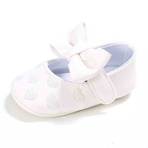 ESTAMICO , Baby Mädchen Lauflernschuhe, weiß - weiß - Größe: 3-6 monate (Weiße Iii Schuhe)