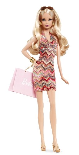 Barbie - Muñeca Fashion City Shopper, rubia (Mattel X8256)