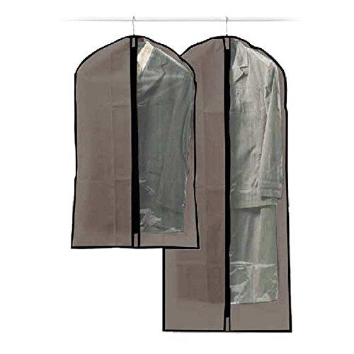 Paris Prix - 2 Housses de Costumes Taupe