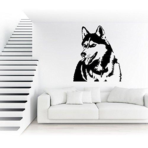 Husky Wandtattoo Sticker Folienplot Motive Hunde Autoaufkleber | KB076W