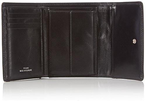 Picard Unisex-Erwachsene Porto Geldbörsen, 13x10x3 cm Schwarz (Schwarz)