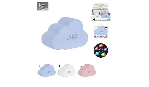 Veilleuse nuage b/éb/é enfant avec variation de couleursla tete dans les nuages 2019//2020 blanc
