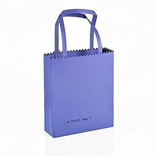 Regenesi Fruit Bag, Shopping Bag, Borsa design in pelle rigenerata prodotta a mano in Italia Viola