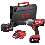 Milwaukee M18CHIWF34-502X M18 Fuel Friction Ring Impact Wrench 3/4 Reception (2 x 5.0ah batteries, charger, dynacase)