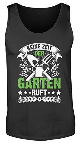 Values Tees Keine Zeit der Garten Ruft I Geschenk für den Top Gärtner - Herren Tanktop -XL-Schwarz (Alternative Herren-perfekte Tank)