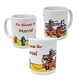 Feuerwehr Kinder Tasse -personalisiert mit Name- Lutz Mauder Trinkbecher, Becher