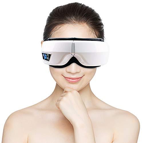 Elektrisches Augenmassagegerät Wiederaufladbares kabelloses Augenmassagegerät mit vibrierendem Luftdruck und Bluetooth-Funktion für Tränensäcke, Augenringe und Augenermüdung (Gehirn ändern Therapie)