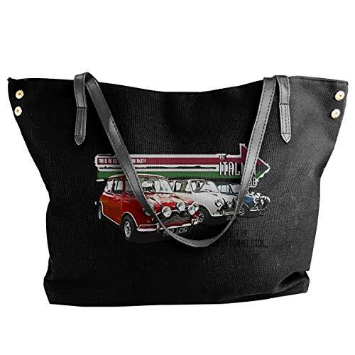 Fashion The Italian Job Classic Mini Cooper Cars Schultertasche Canvas Handtasche