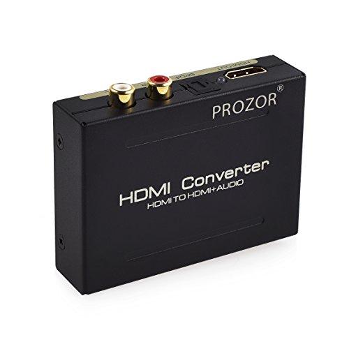 PROSTER Digital Audio Konverter Digitaler HDMI zu HDMI SPDIF/Toslink RCA L/R Audio Konverter Adapter Ausgang mit USB Kabel für Apple TV Blu-ray Player