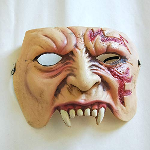 Halloween Scary Maske Zähne Maske, Latex Horror Maske, -