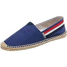 ed1cb5c6dc033d YOUJIA Espadrilles Mixte Adulte Vintage Ethnique Plat Slip-on Chaussures  D Été
