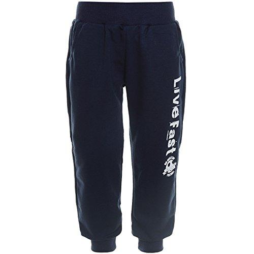 BEZLIT Kinder Jungen Jogging Sport Shorts Freizeit Trainings Hose 21236 Navy Größe 116 (Herstellergröße 122-128)