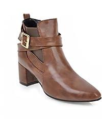 QPYC Damen Hohe Schuhe Heels Stiefel Martin Stiefel Kurze Stiefel Herbst Und Winter Wasserdichte Plattform Damen Schuhe , black , 39