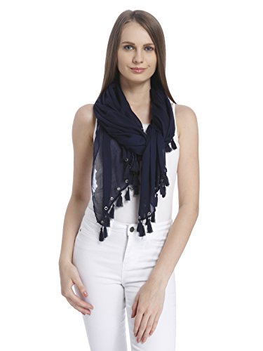VERO MODA Women's Scarf (10175139_Blue Depths_ONE)  available at amazon for Rs.597