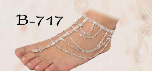 Egypt Bazar Fußkettchen indischer Stil, Bauchtanz, Tribal-Dance -Bollywood-Accessoire,Orientalischer Schmuck
