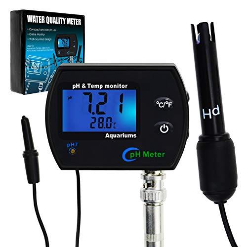PH & Temperatur 2-in-1-Dauerüberwachungs Meter w/Hintergrundbeleuchtung Auswechselbare Elektrode -