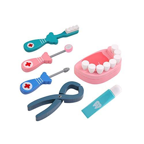 zt Spielset Role Play Kit Kids Pretend Emulational Dental-Werkzeug-Satz-Spielzeug für Kinder Arzt Toy Medical Kit 6Pcs / Set Spielen ()