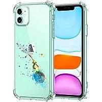 Oihxse Transparente Silicona Funda Compatible con iPhone 11 Pro MAX Carcasa Ultra-Delgado Suave TPU Gel Airbag Esquinas Anti Rasguños Lindo Protector Case Bumper(A3)