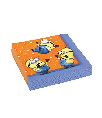 Minions Despicable Me Chicas Paper napkins - anaranjado Minions