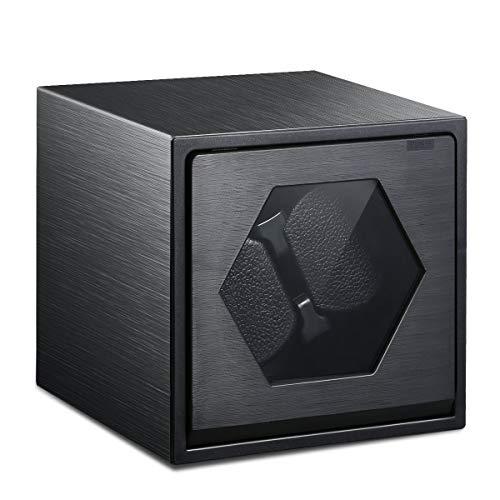FLOUREON Uhrenbeweger Watch Winder für 2 Uhren Uhrenbox Uhrenvitrine Rectangle Mute Automatische Laufleise • Sichtfenster • Elegantes Design • Samtkissen schwarz