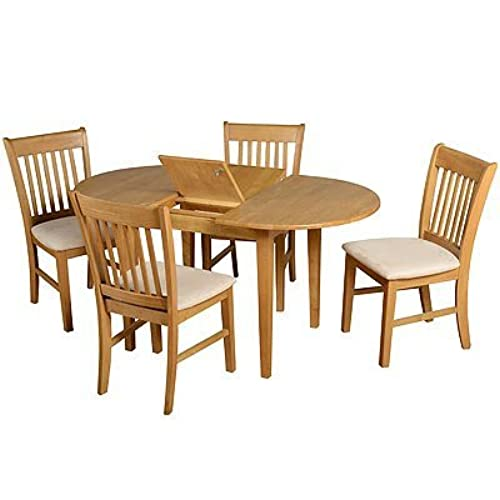 Seconique Oxford Oak Extended Dining Set With 4 Chairs