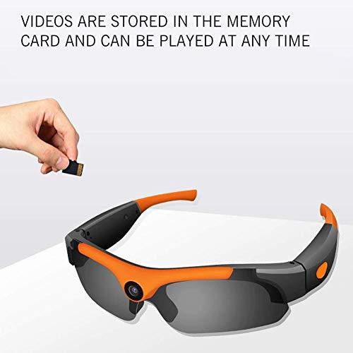 HKYMBM Sonnenbrille Sport Kamera, Kamera Brille HD 1080P 120 ° Weitwinkel Mini-Videokamera zum Fahren, Reiten, Angeln, Motorrad und Outdoor-Sport