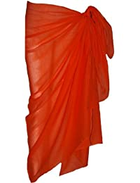 Plain Orange Cotton Sarong