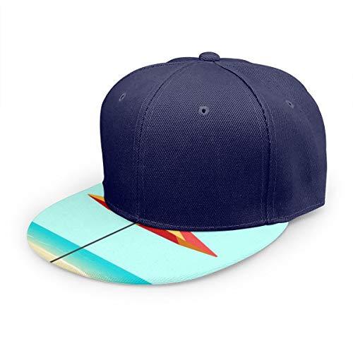 Gorra de béisbol de Sarga Lavada para Hombre de Seaside Sea Coast, Gorra Plana, Ajustable