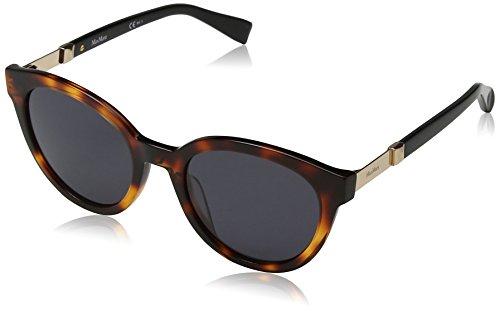 Max mara mm gemini ii ir 581 52, occhiali da sole donna, nero (havana blck/grey bluee)