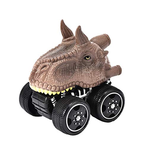 Year Night Mini-véhicule de dinosaure à tirer de voiture avec une grande roue Magic Amusant