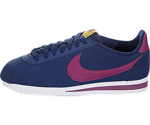 Nike WMNS Classic Cortez Leather, Chaussures de Running Femme, Multicolore (Black/Anthracite-MTLC...