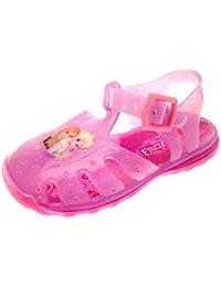 GIRLS PINK GLITTER FLOWER SUMMER BEACH HOLIDAY FLAT SANDALS INFANTS UK SIZE 4-12