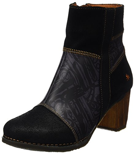 Black Multi Suede Schuhe (Art Damen Salzburg Kurzschaft Stiefel, Schwarz (Serraje Multi Black Box), 39 EU)
