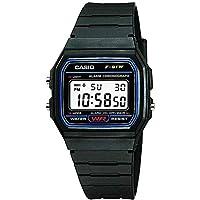 ساعة كاسيو للرجال F-91W-1D- رقمية، رياضية
