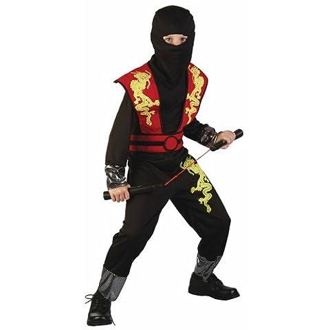 P'TIT CLOWN 81392 Déguisement Enfant Luxe Ninja - L - Multicolore