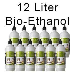 Wir bieten hier 12 x 1 Liter sicherheits- Bio-Ethanol an Dieses Bio-Ethanol verbrennt ohne Rückstände und nahezu geruchsneutral. Es ist geeignet für: Gelkamine,Terassenfeuer,Tischfeuer, Glasfeuer,Feuertopf. Die Flaschen sind mit einer Kindersicherung...