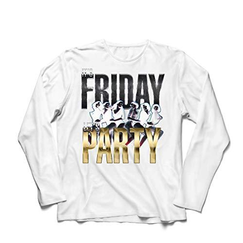 irts Es ist Freitag, Lass Uns feiern, 60s 70s 80s Disco, Partykleidung (XX-Large Weiß Mehrfarben) ()