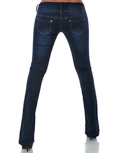 Damen Schlag Jeans Hose (Schlaghose weitere Farben) No 14219 Blau
