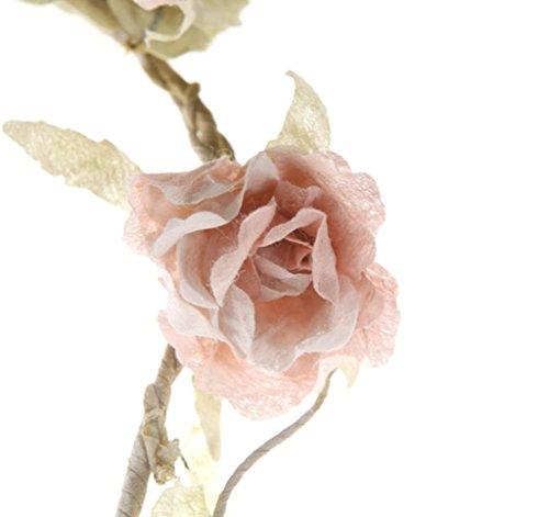 2 x Rose Garland Light Pink
