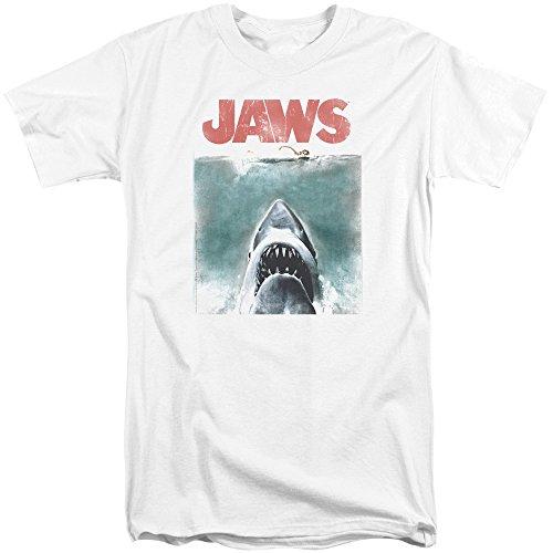 Jaws Herren T-Shirt Weiß