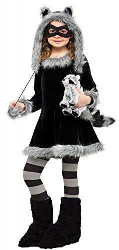 Kostüm Süßer Waschbär Kinder - Süßes Mädchen Kostüm Waschbär Fuzzy Fell Plüsch Kinderkostüm , Kindergröße:110 - 4 bis 6 Jahre