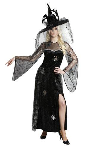 Halloween Damen Kostüm Spinnenfrau Hexe zur Walpurgisnacht Größe ()